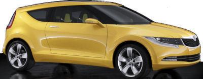 Photo du design extérieur du concept-car Skoda Joyster Concept.